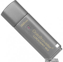 Флеш память USB Kingston DataTraveler Locker+ G3 32GB (DTLPG3/32GB) (461467) - Уценка