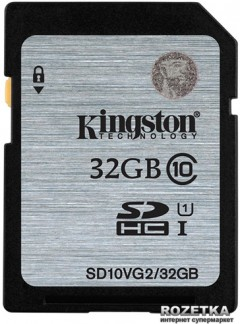 Kingston SDHC/SDXC 32GB Class 10 UHS-I (SD10VG2/32GB)