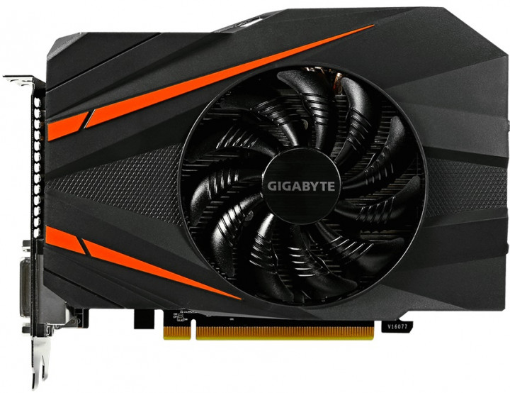 Gigabyte PCI-Ex GeForce GTX 1060 Mini ITX OC 3GB GDDR5 (192bit) (1531/8008) (2 x DVI, HDMI, Display Port) (GV-N1060IXOC-3GD)
