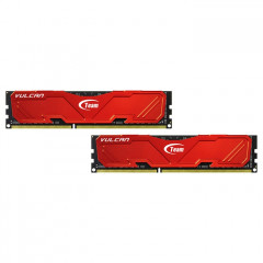 Team DDR4 8GB (2x4GB) 2666 MHz T-Force Vulcan Red (TLRED48G2666HC15BDC01)