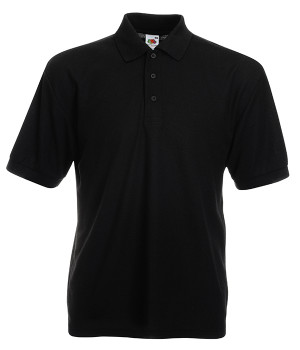 Поло Fruit of the Loom 65/35 Polo 4XL Черный (0634020364XL)