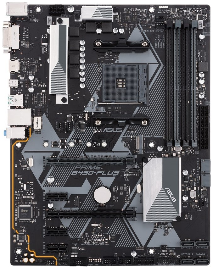 Материнская плата Asus Prime B450-PLUS (sAM4, AMD B450, PCI-Ex16) 2019