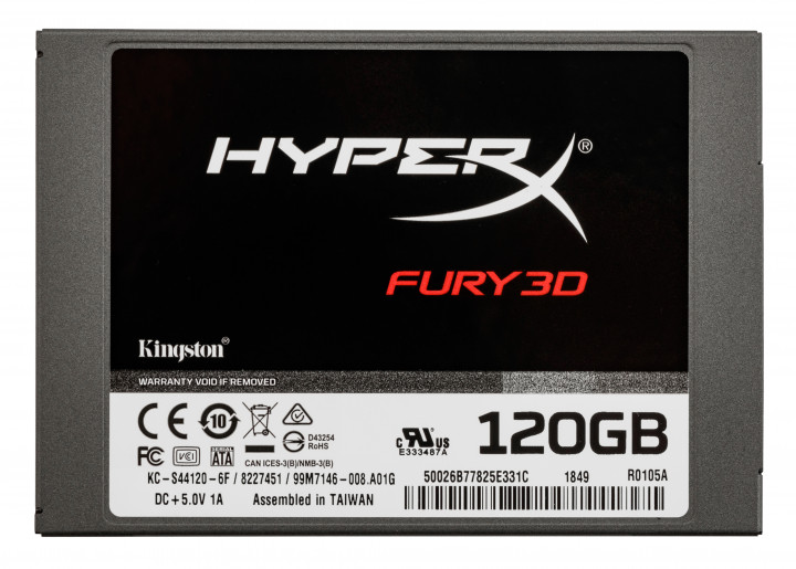"Kingston SSD HyperX Fury 3D 120GB 2.5"" SATAIII TLC (KC–S44120–6F)"