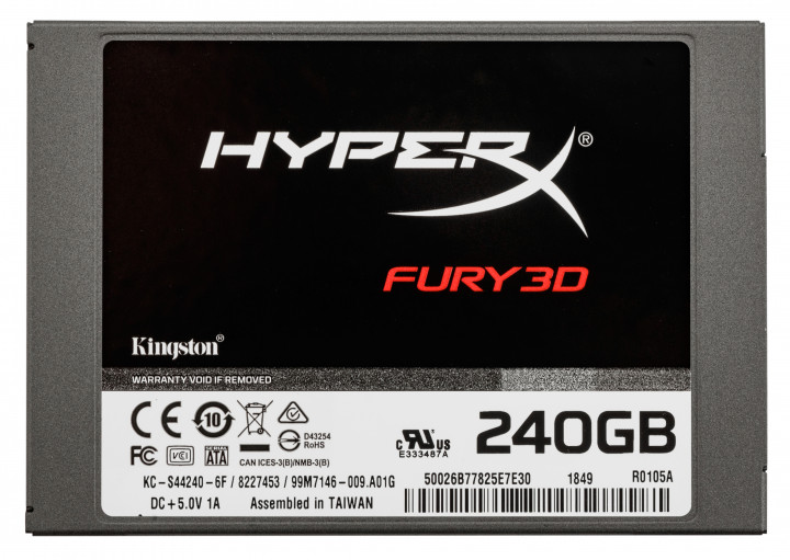 "Kingston SSD HyperX Fury 3D 240GB 2.5"" SATAIII TLC (KC–S44240–6F) - изображение 1"