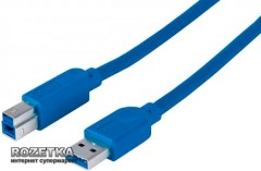 Кабель Manhattan USB 3.0 AM-BM 1.8 м (352550) Blue