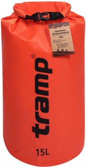 Гермомешок Tramp PVC Diamond Rip-Stop 15 л Оранжевый (TRA-112-orange)