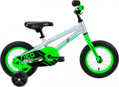 "Велосипед Apollo 12"" Neo boys Brushed Alloy Neon Green Black 2018 (SKD-41-48)"