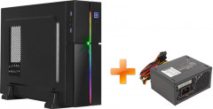 Корпус Aerocool Playa Slim RGB Black + Блок питания Aerocool SX400 400W