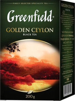 Чай чорний Greenfield Golden Ceylon 200 г (4823096801070)