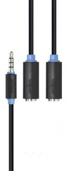 ProLink 4pin 3.5 mm Stereo Plug to 4pin 2 x 3.5 mm Stereo Sockets 0.3 м Cable (PB155-0030)