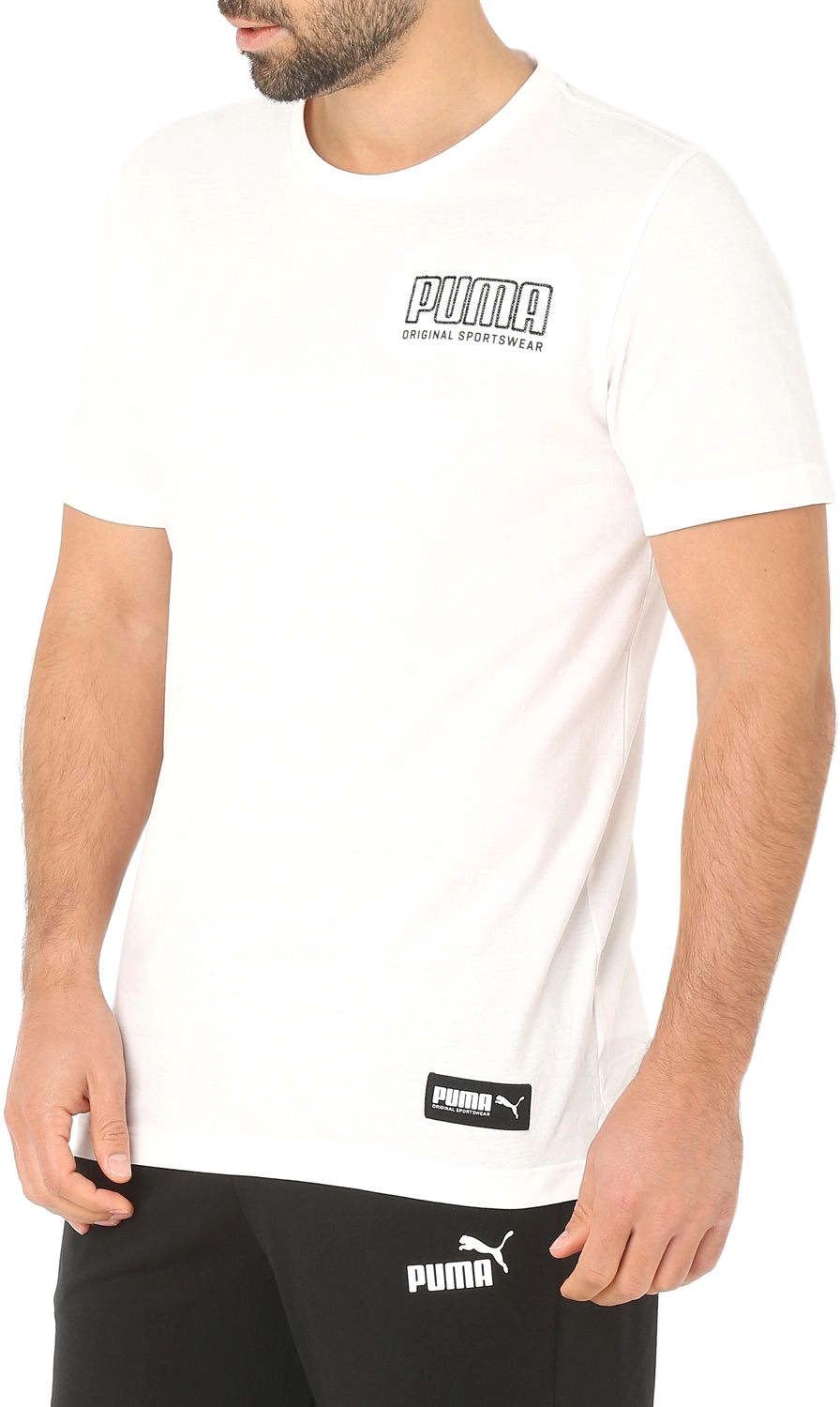 139bcfeb854eb Футболка Puma Athletics Tee 85410602 S Белая (4060978726551)