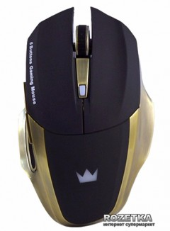 Мышь Crown CMXG-605 Wireless Black/Gold