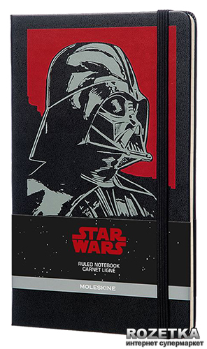Записная книга Moleskine Star Wars Darth 13 х 21 см 240 страниц в линию Черная (8051272891669)