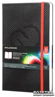 Записная книга Moleskine Art Adobe Smart Notebook 13 х 21 см 108 страниц без линовки Черная (8051272890297)