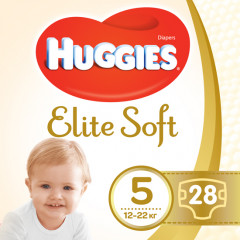 Подгузники Huggies Elite Soft Jumbo 5 12-22 кг 28 шт (5029053547794)