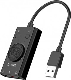 Звуковая карта Protech Orico USB Sound Card Adapter SС2-BK Black (PO-0112)
