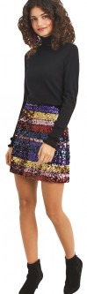 Юбка Oasis Rainbow Sequin Mini Skirt 068071-00 XS (5054413666433)