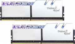 Оперативная память G.Skill DDR4-3000 16384MB PC4-24000 (Kit of 2x8192) Trident Z Royal Silver (F4-3000C16D-16GTRS)