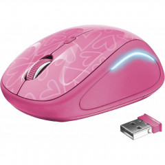 Мышь Trust Yvi Wireless FX (22336) Pink