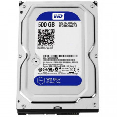 Жесткий диск 3.5' 500Gb Western Digital Blue SATA3 64Mb 5400 rpm WD5000AZRZ (125032)