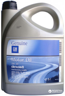 Моторное масло GM Motor Oil 5W-30 Dexos2 5 л (1942003)