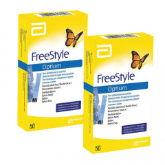 Тест-полоски для глюкометра Abbott Laboratories FreeStyle Optium 50ШТ