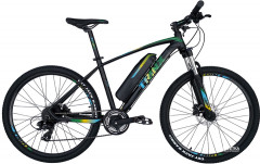 Электровелосипед TRINX E-Bike X1E 17 Matt-Black-Green-Blue (X1EMBGB)