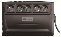 Mustek PowerMust 600 Plus Line Interactive 625VA/375W Schuko (600-LED-LI-R10)