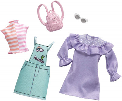 c380a31d18663e Одежда для кукол Барби Barbie Fashion Pastel and Patchwork 2 Pack Mattel  (FXJ64)