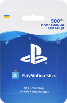 Playstation Store пополнение бумажника: Карта оплаты 500 грн (конверт) - изображение 1