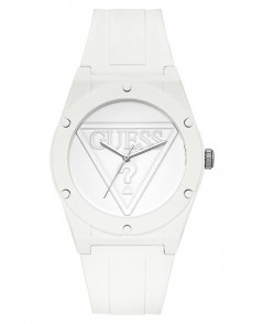 Часы Guess Iconic Logo White Silicon Strap Watch 42 mm