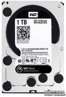Жесткий диск Western Digital Black 1TB 7200rpm 64MB WD1003FZEX 3.5 SATA III