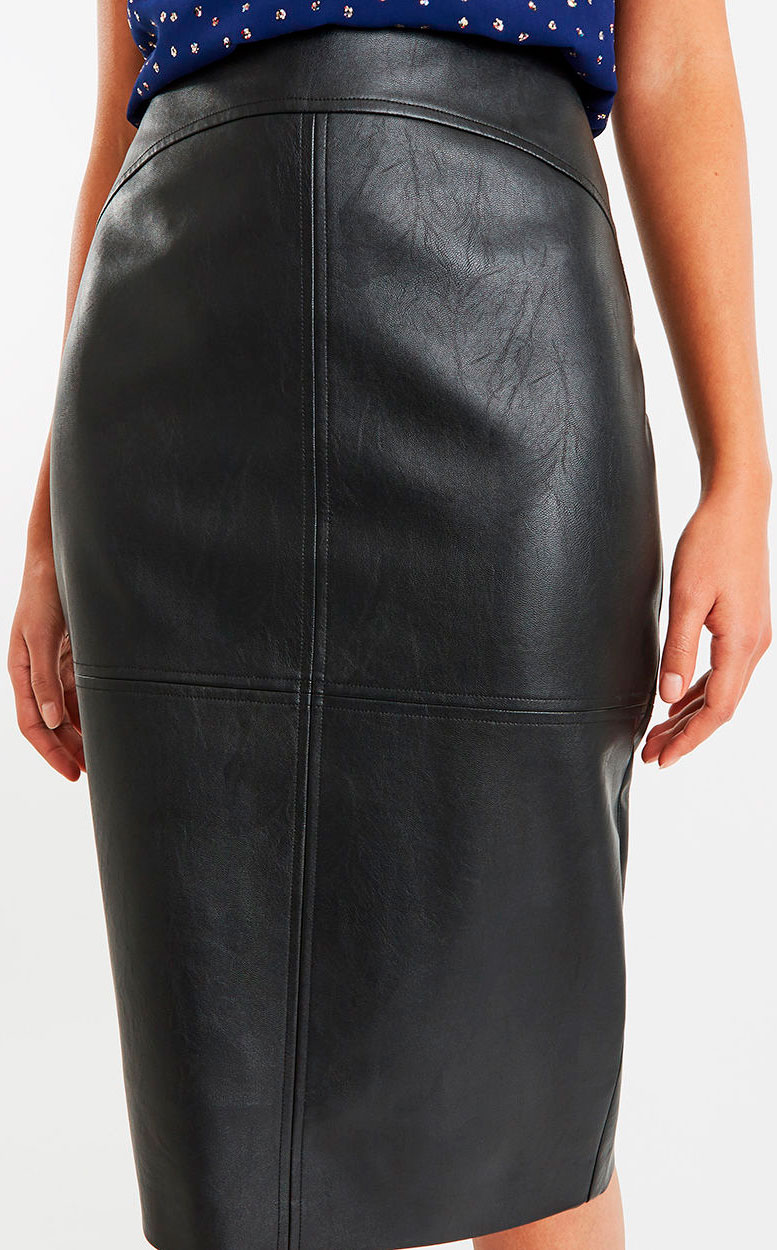 3c108f83ec01 Oasis Faux Leather Midi Skirt | Huston Fislar Photography