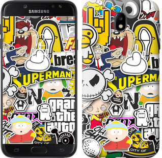 Чехол EndorPhone на Samsung Galaxy J7 J730 2017 Popular logos (4023m-786)