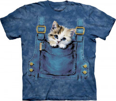 Футболка The Mountain Kitty Overalls junior M Синий (101016)