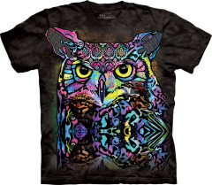 Футболка The Mountain Russo Owl XXXL Черный (104278)