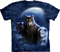 Футболка The Mountain Three Wolf Night junior XL Черный (103436)