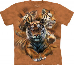 Футболка The Mountain Resting Tiger Collage junior XL Оранжевый (105889)
