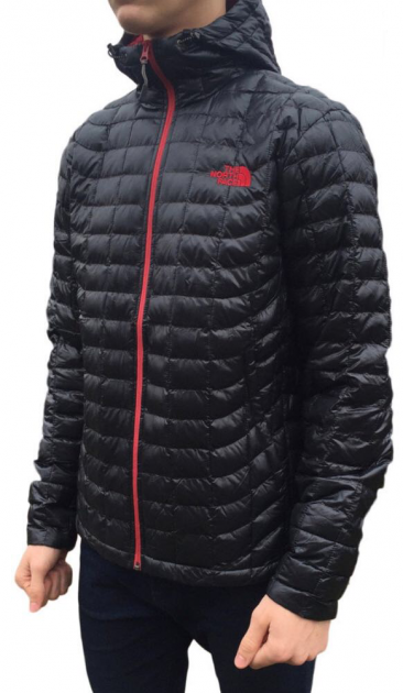 Куртка мужская The North Face ThermoBall C-761 Black Red Zip S - изображение 1