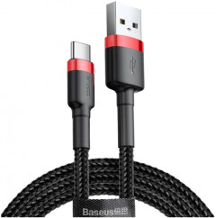 Кабель Baseus Cafule Cable USB for Type-C 2A 2.0 м Red/Black (CATKLF-C91)