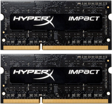 Оперативна пам'ять HyperX SODIMM DDR3L-2133 8192 MB PC3L-17000 (Kit of 2x4096) Impact (HX321LS11IB2K2/8)