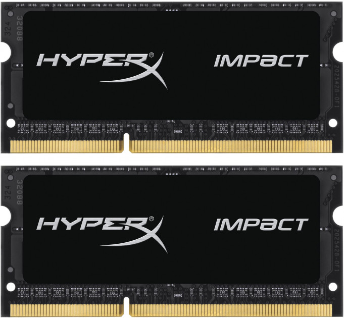 Оперативная память HyperX SODIMM DDR3L-2133 16384MB PC3L-17000 (Kit of 2x8192) Impact (HX321LS11IB2K2/16) - изображение 1