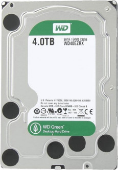 "Жесткий диск Western Digital Green 4TB 5400rpm 64MB 3.5"" SATA III Factory Recertified (WD40EZRX-FR)"