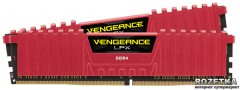 Оперативная память Corsair DDR4-3200 16384MB PC4-25600 (Kit of 2x8192) Vengeance LPX (CMK16GX4M2B3200C16R) Red