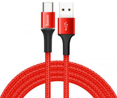 Кабель Baseus Halo Data Cable USB for Type-C 3A 1 м Red (CATGH-B09)