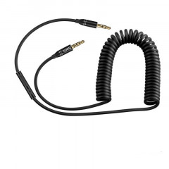 Кабель Hoco UPA05 Yueyin AUX cable with mic and controller Mini-Jack 3.5 мм 1M Черный (38-SAN139)