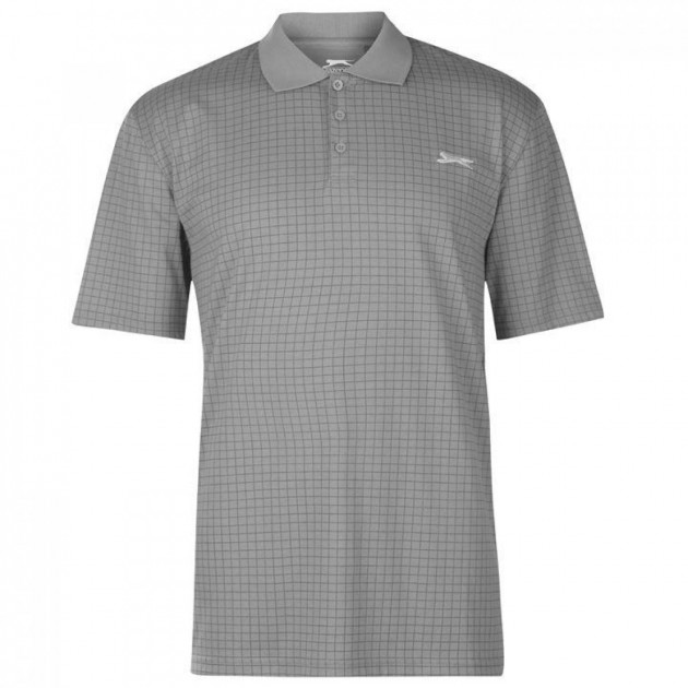 Поло Slazenger Check Golf Light Grey, L (10206795)