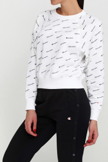 Свитшот Champion Crewneck Croptop cha111277-WHT/ALLOVER S Белый (8056426028991)