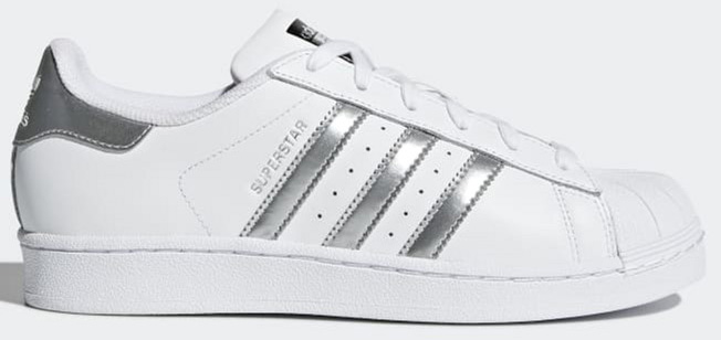 nouveau concept 140b2 b8a38 Кеды Adidas Superstar W AQ3091 35 (3.5UK) 22.2 см Ftwwht/Silvmt/Cblack  (4056559777777)