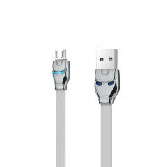 Кабель USB Hoco U14 Iron Man MicroUSB Grey 1.2m